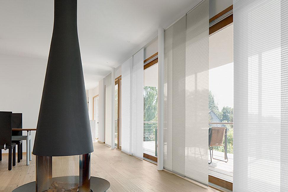 Flächenvorhänge Modern flächenvorhänge strufe dekorationen